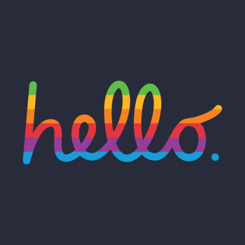 TeePublic: hello lisa (rainbow) apple