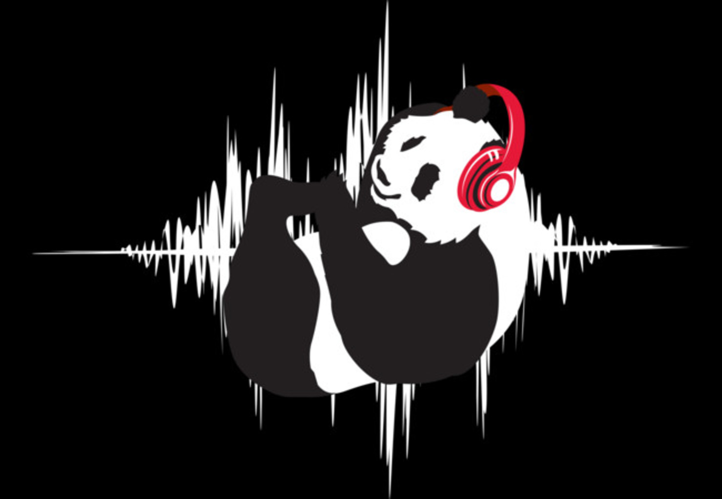 Design by Humans: Rock n Roll Panda