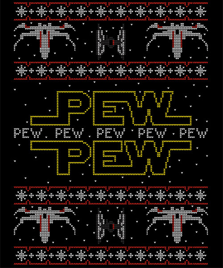 Qwertee: Pew Pew Christmas