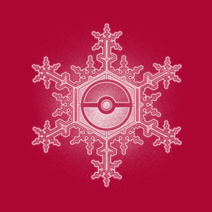 Pop-Up Tee: Pokeball Snowflake