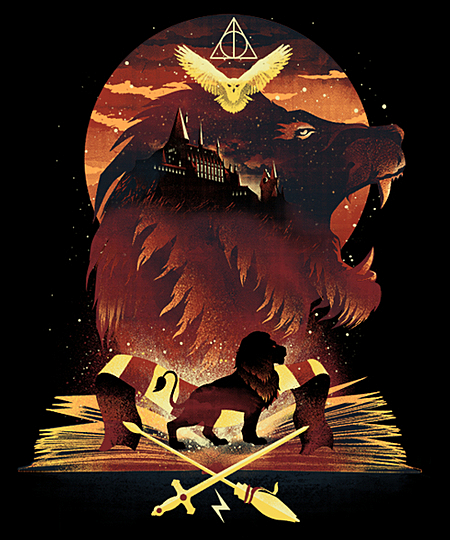 Qwertee: Book of Gryffindor