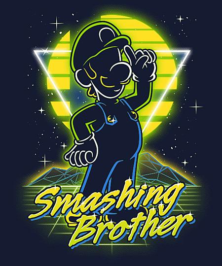 Qwertee: Retro Smashing Brother