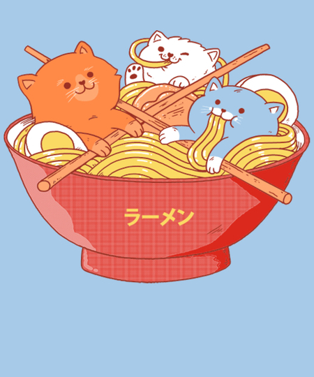 Qwertee: Ramen and cats