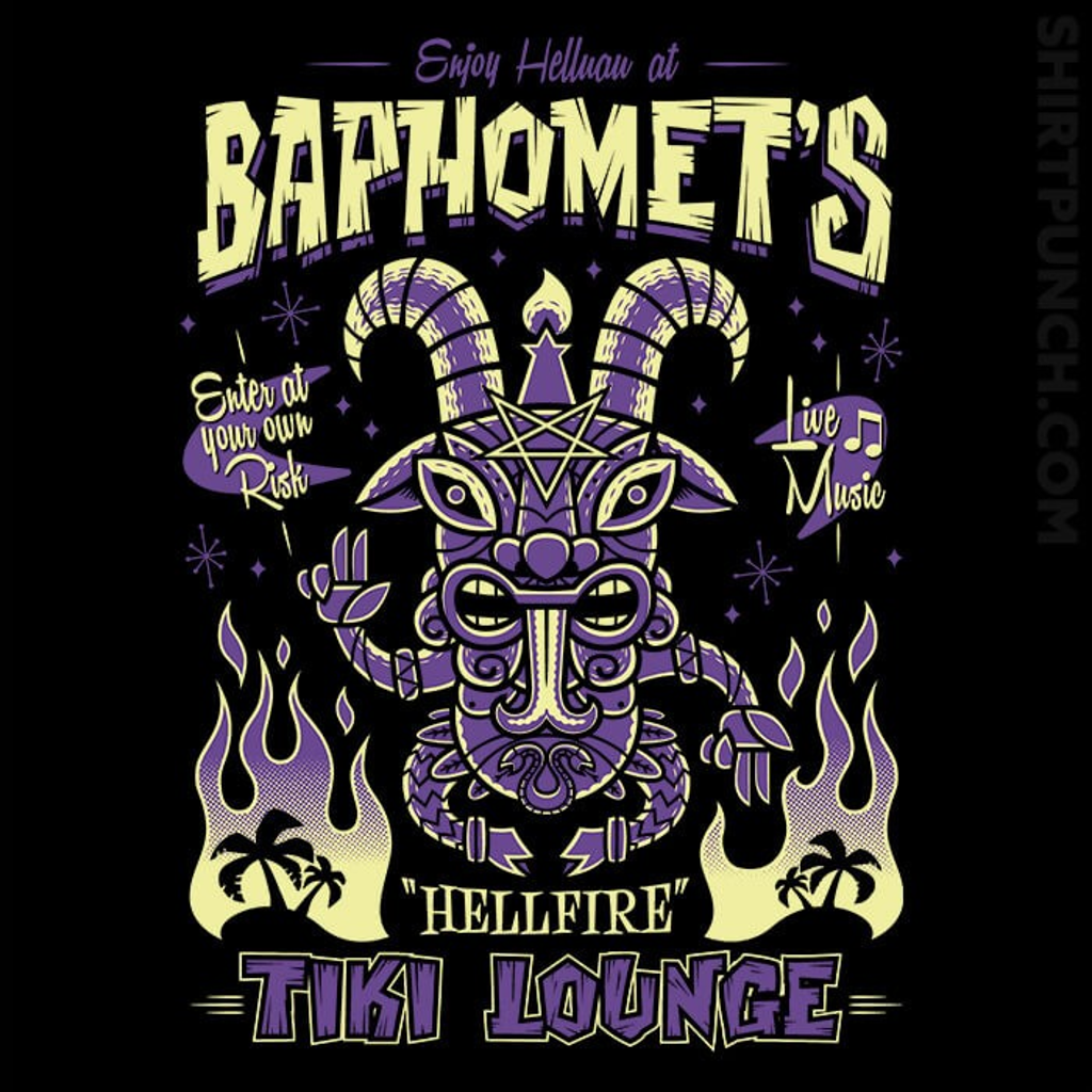 ShirtPunch: Baphomet's Tiki Lounge