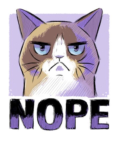 Qwertee: Nope Cat