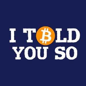 BustedTees: I Told You So Bitcoin