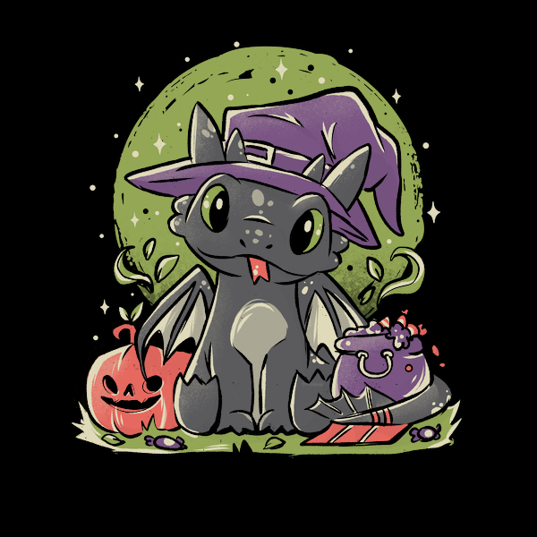 NeatoShop: Fury Halloween  - Cute Dragon Cartoon Gift