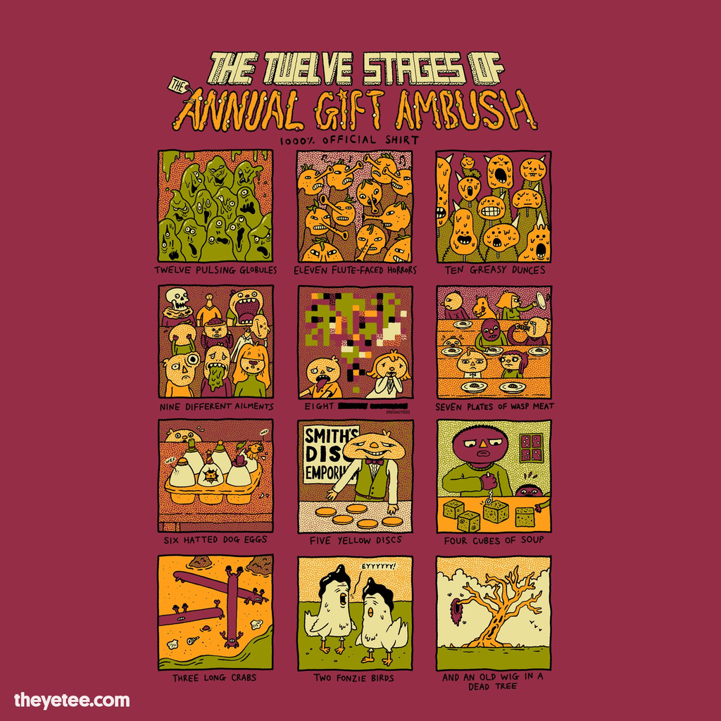 The Yetee: The Twelve Stages of the Annual Gift Ambush
