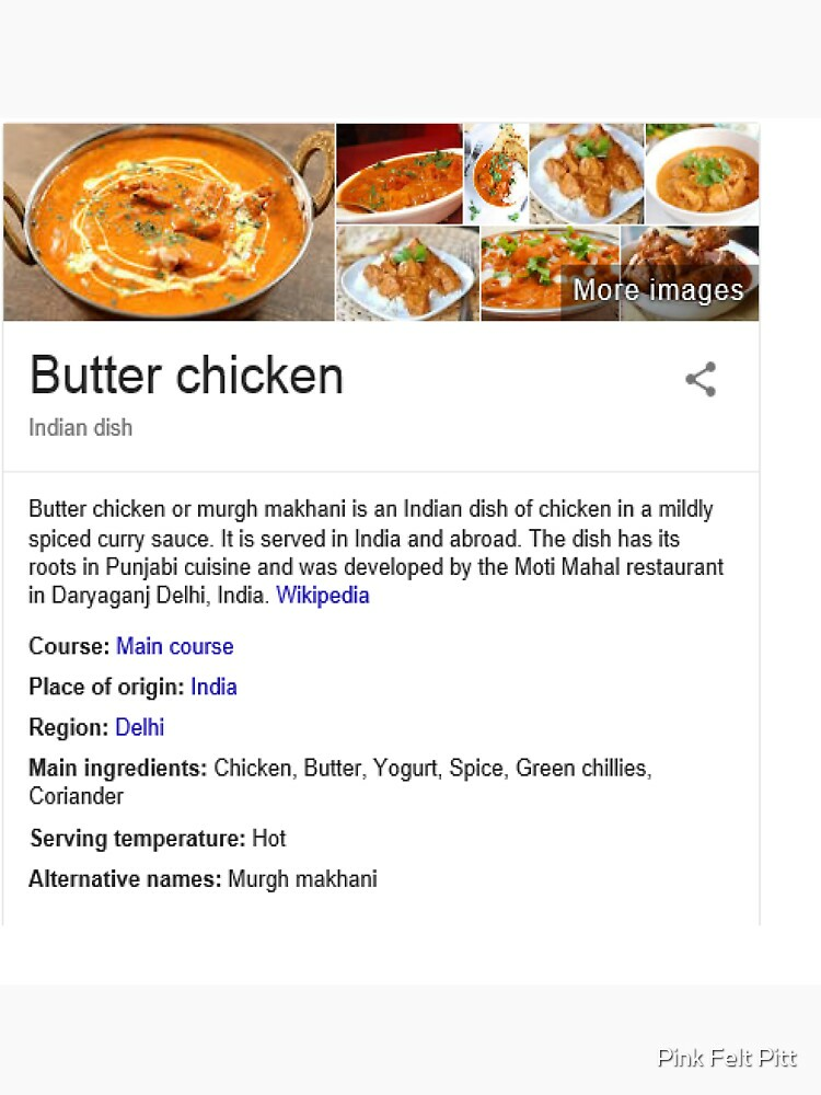 RedBubble: Butter Chicken