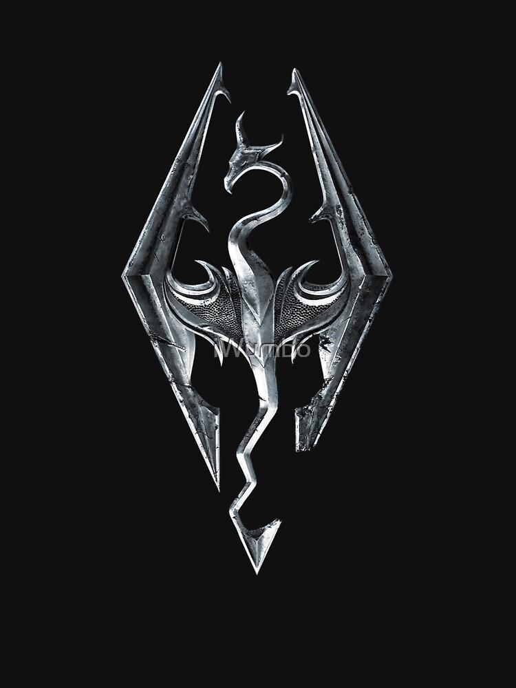 RedBubble: Skyrim Logo - Iron Embossed in Granite