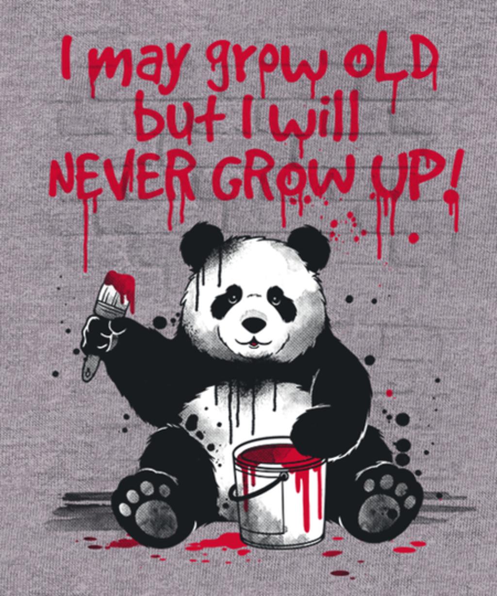 Qwertee: Panda never grow up