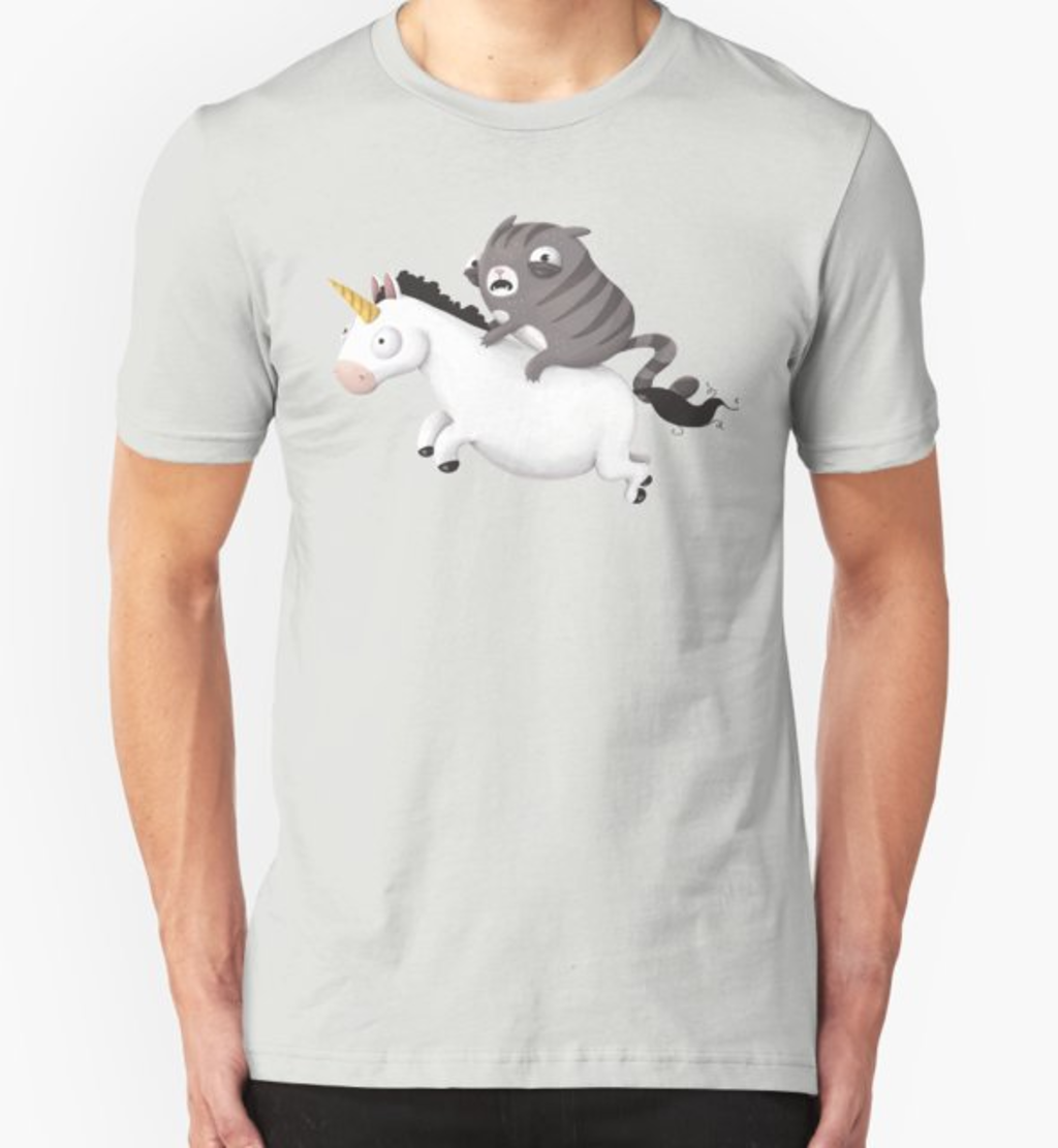 RedBubble: Cat and Unicorn