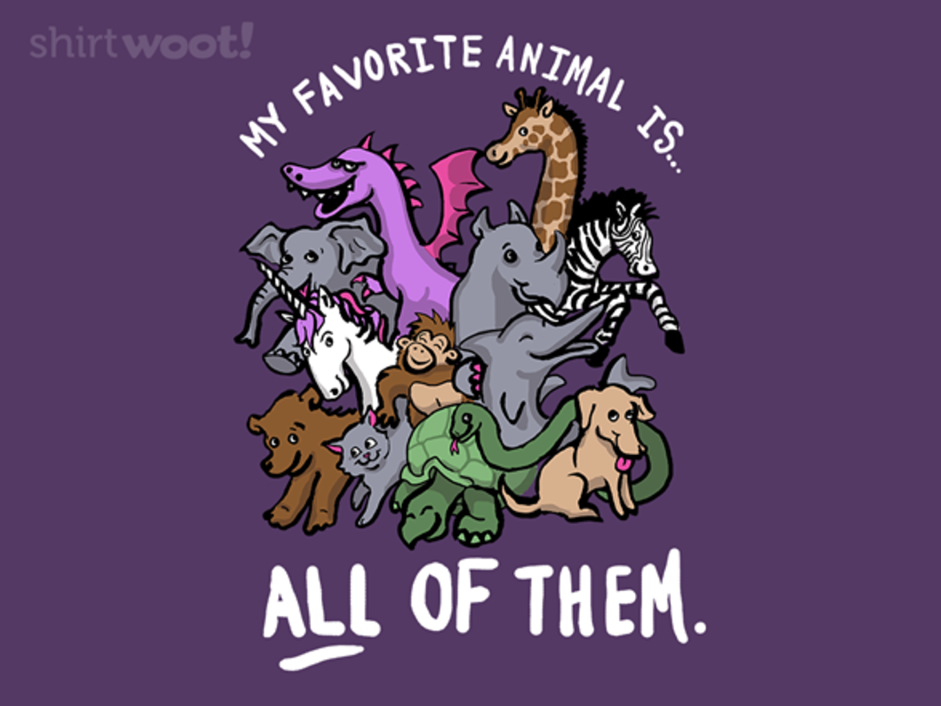 Woot!: What's Your Favorite Animal? - $15.00 + Free shipping