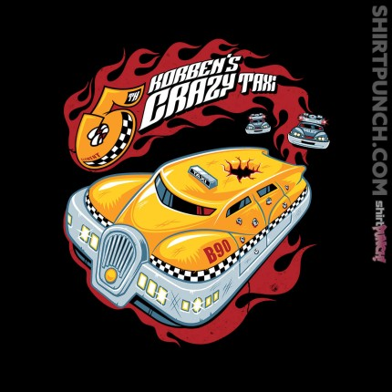 ShirtPunch: Korben's Crazy Taxi