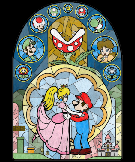 Qwertee: Plumber and the Peach