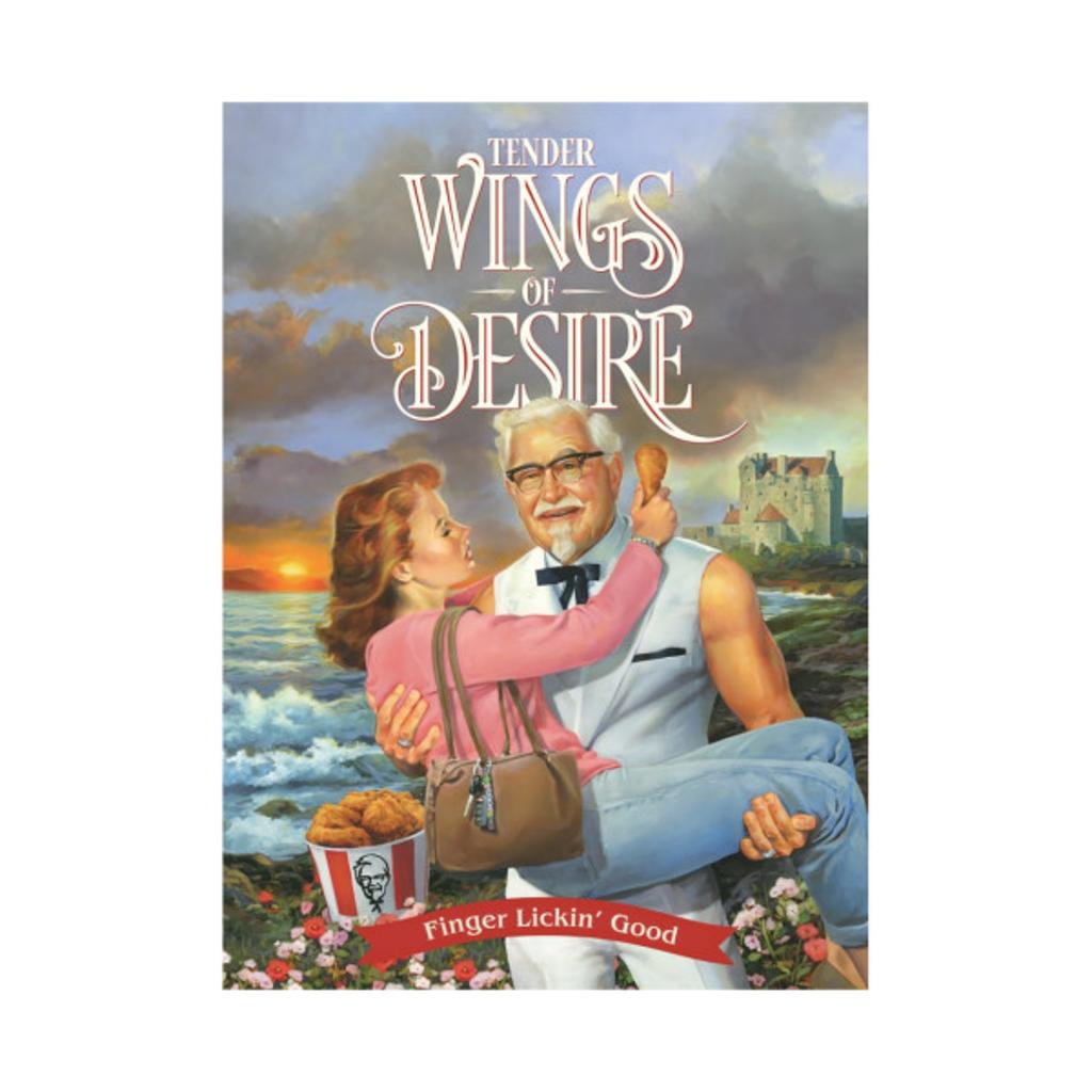 TeePublic: KFC - Tender Wings of Desire (the Sexy Colonel Sanders tee)