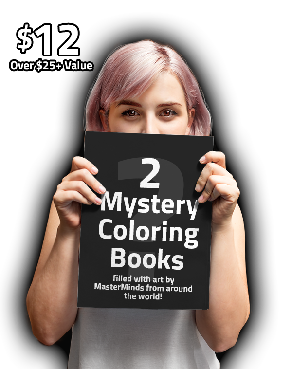 teeVillain: 2 Mystery Coloring Books