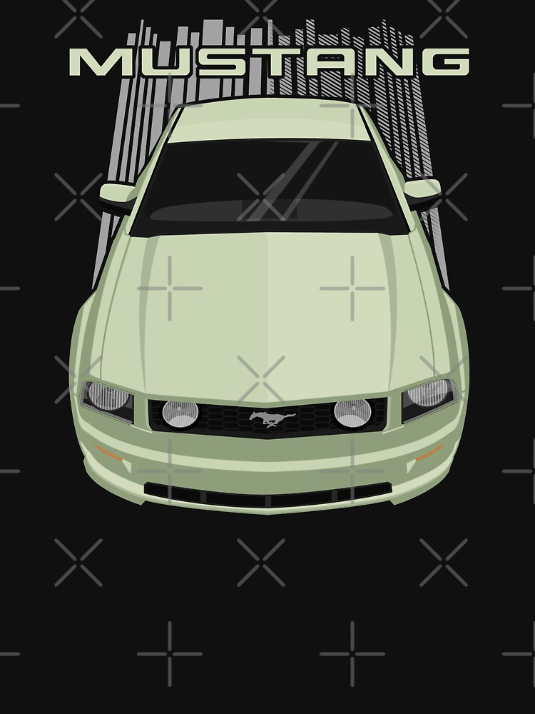 RedBubble: Mustang GT 2005 to 2009 - Green