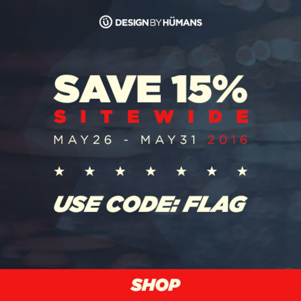 Design by Humans: Memorial Day Sale