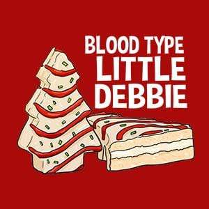 BustedTees: Blood Type Little Debbie