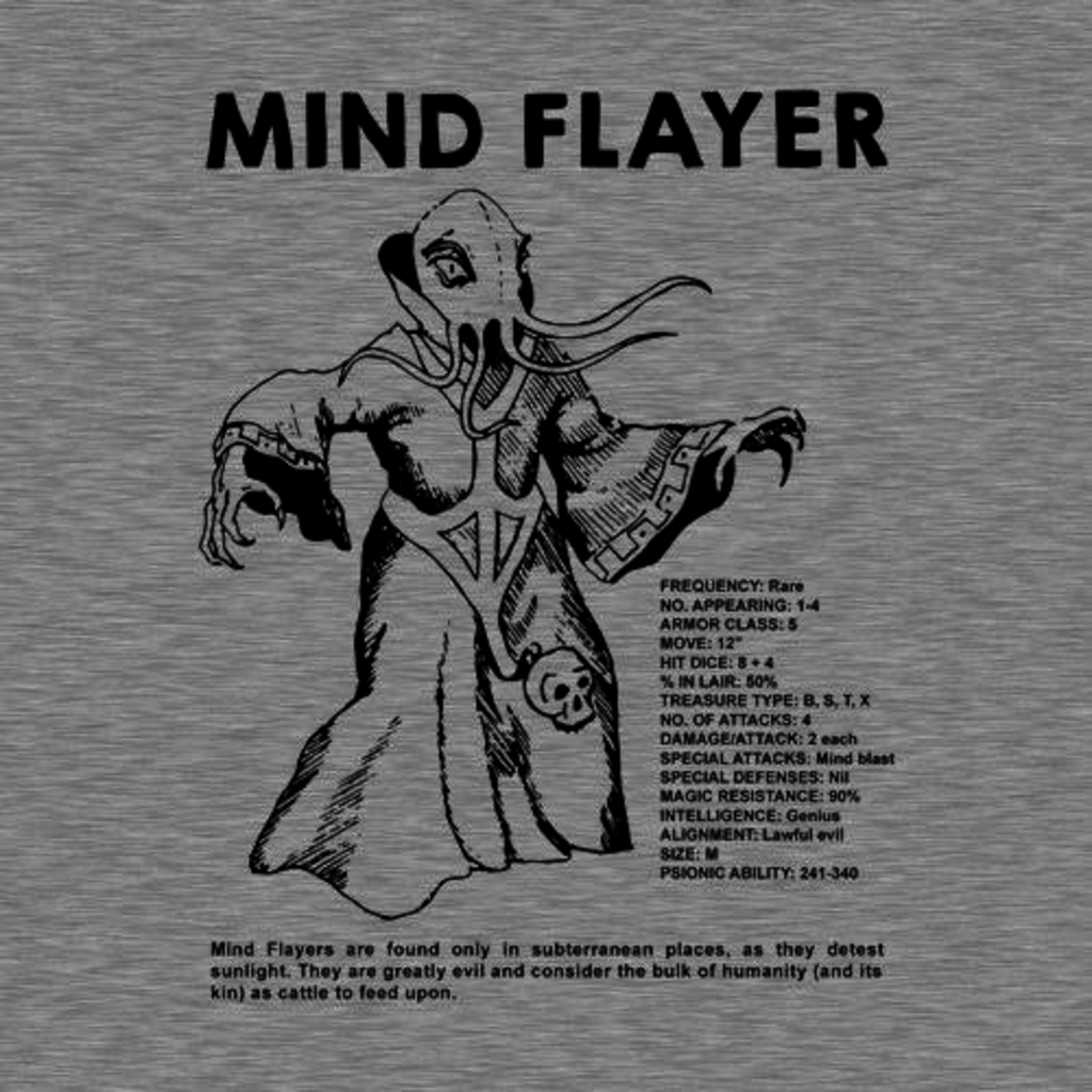 Five Finger Tees: Mind Flayer T-Shirt