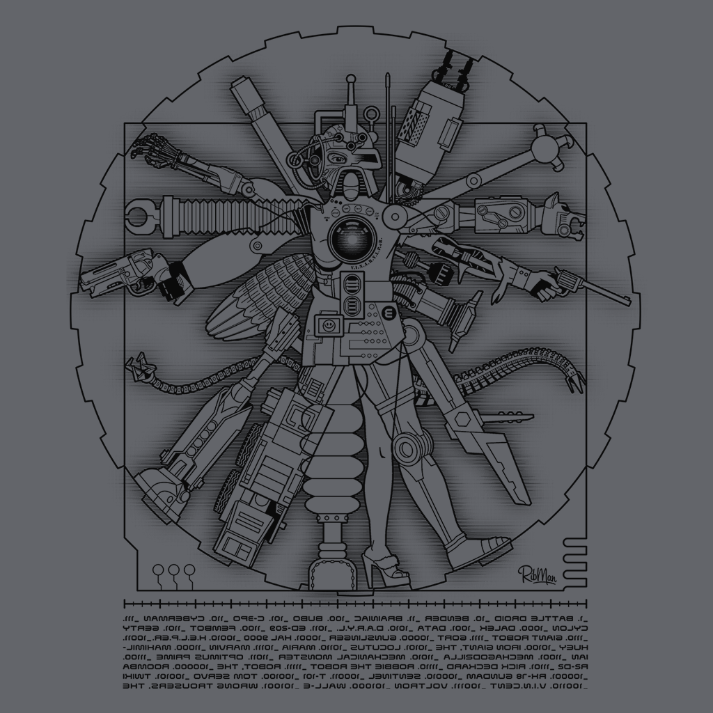 Pop-Up Tee: Vitruvian Machine