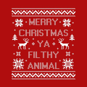 Five Finger Tees: Merry Christmas Ya Filthy Animal T-Shirt