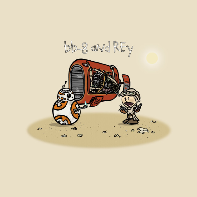 TeePublic: BB-8 and Rey
