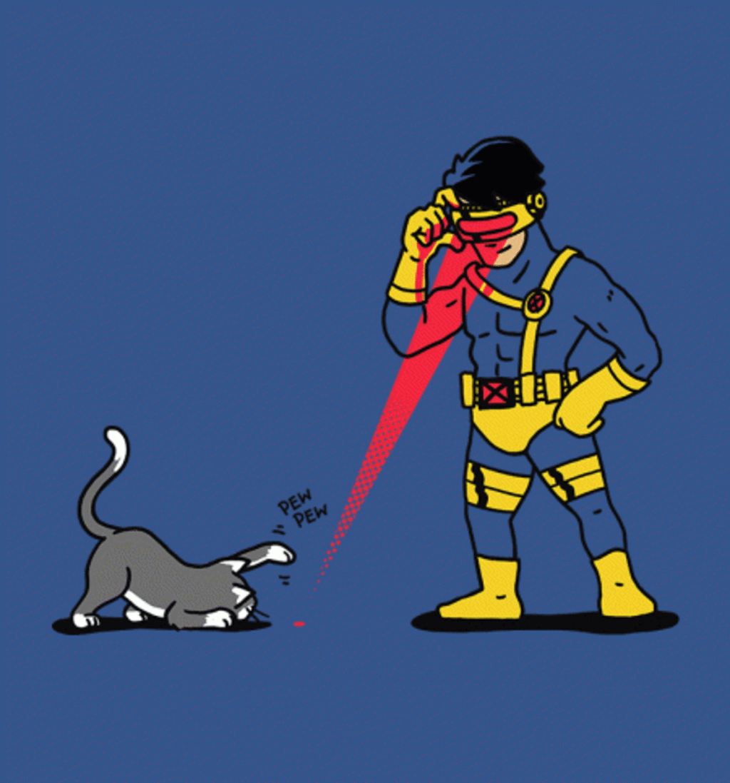 BustedTees: Cats and Lasers