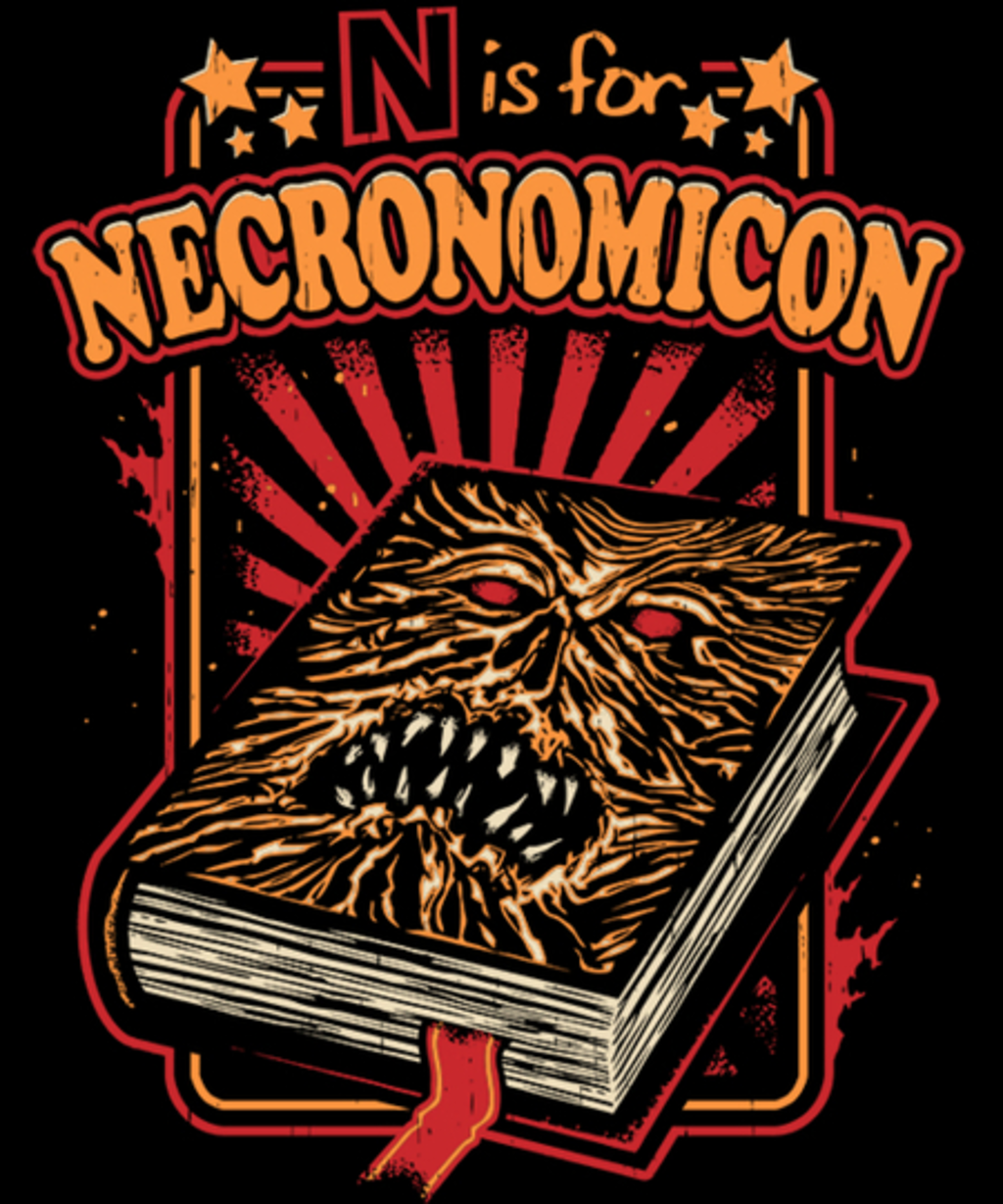Qwertee: N is for Necronomicon