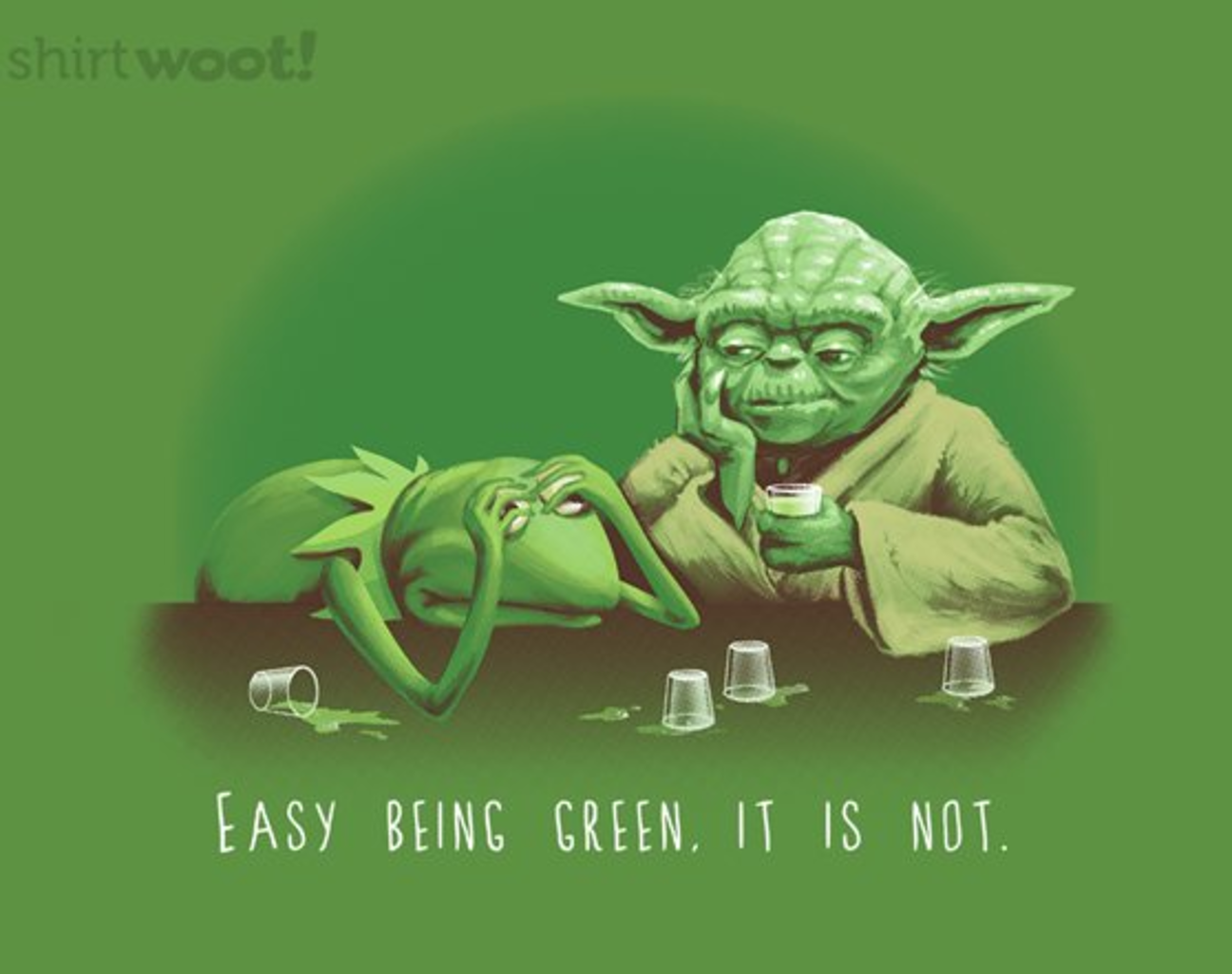 Woot!: Not Easy Being Green - $15.00 + Free shipping