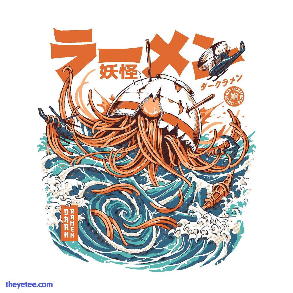 The Yetee: Dark Great Ramen off Kanagawa