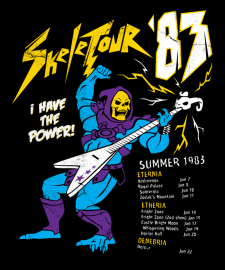 Qwertee: Skeletour '83