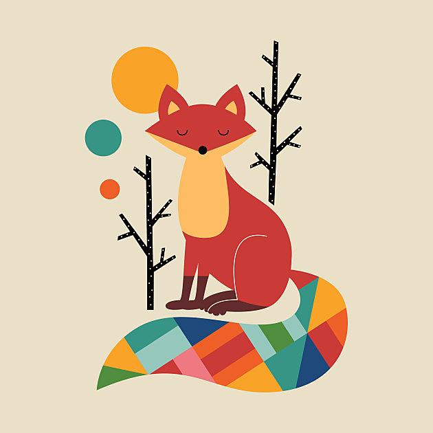 TeePublic: Rainbow Fox