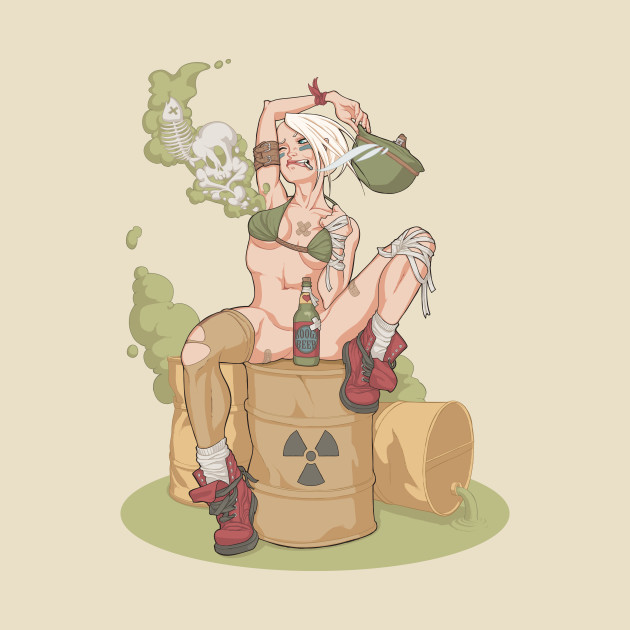 TeePublic: Tank Girl smells like toxic waste