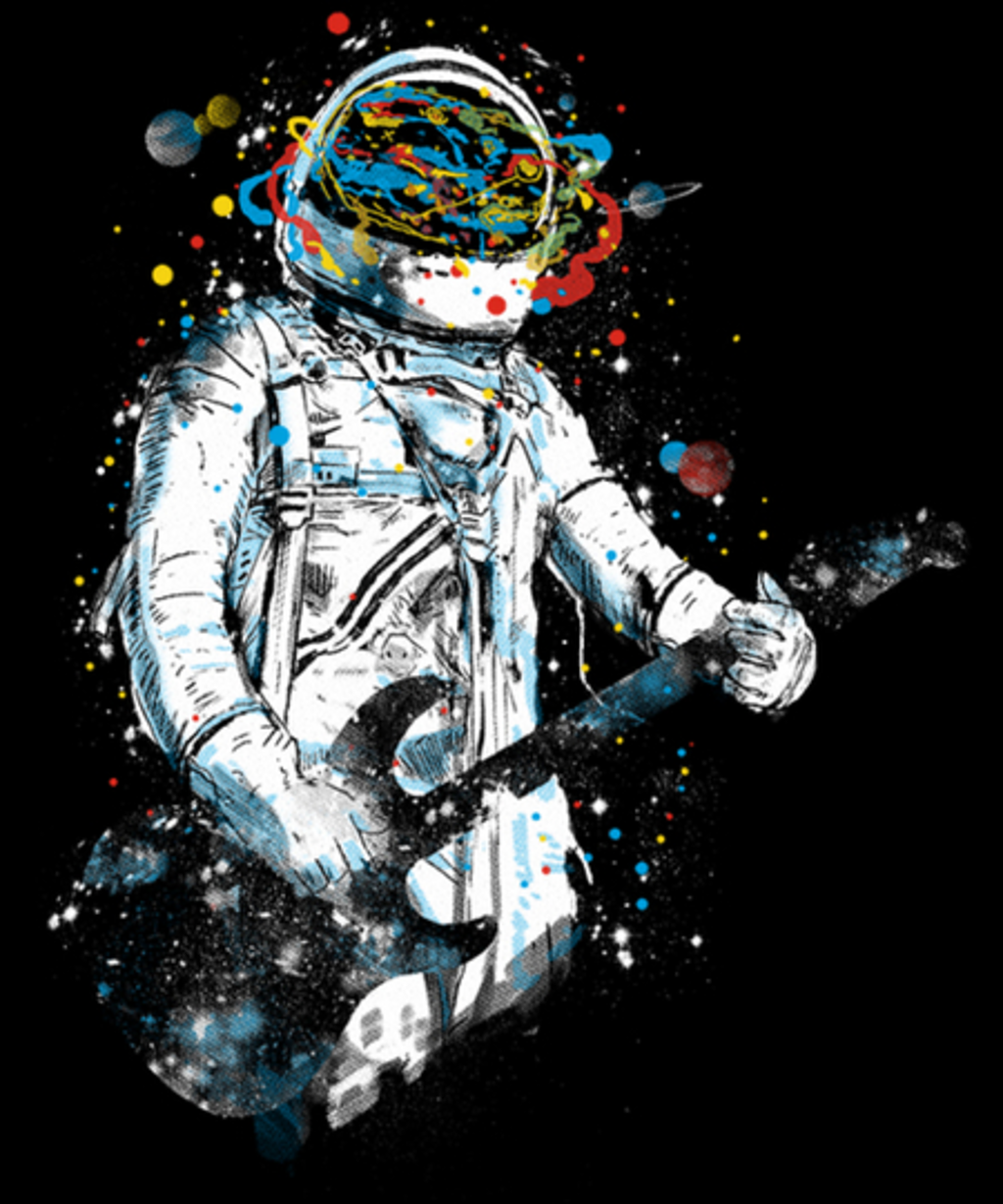Qwertee: space guitar