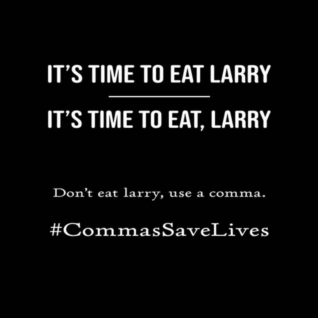 BustedTees: Commas Save Lives