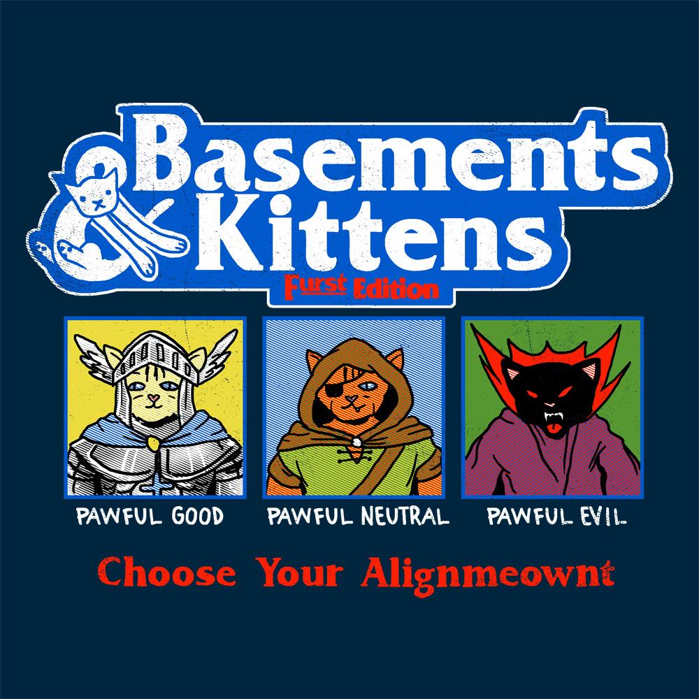 Feline Shirts: Basements & Kittens