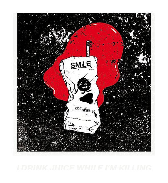 """RedBubble: """"S M I L E Juice"""" Red/Black"""