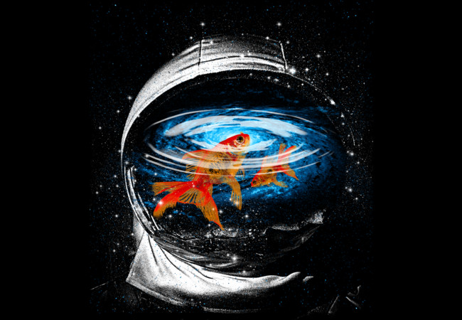 Design by Humans: Astronaut and the goldfish