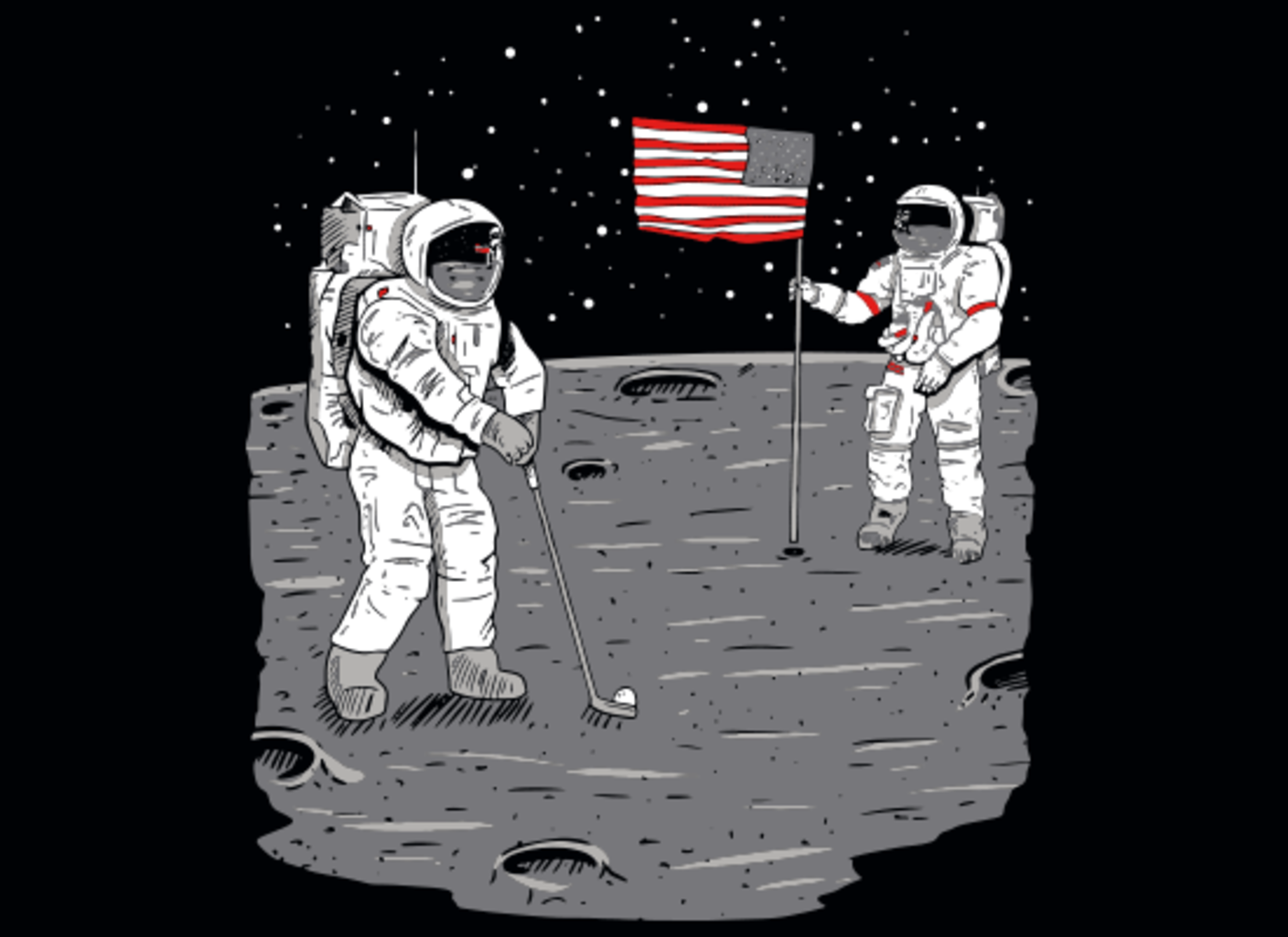 SnorgTees: Moon Golf