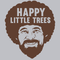 Textual Tees: Happy Little Trees