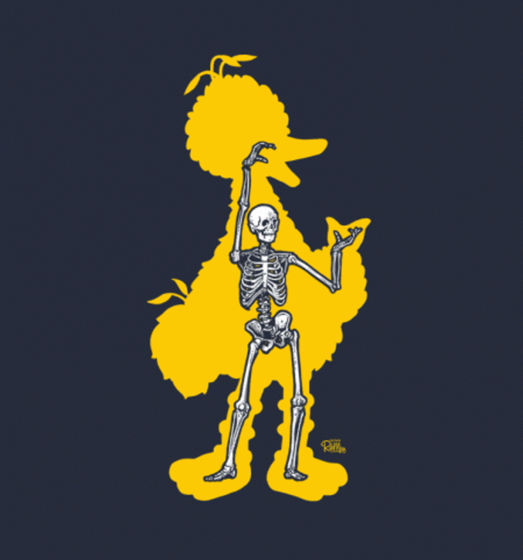 BustedTees: Big Bird X-Ray