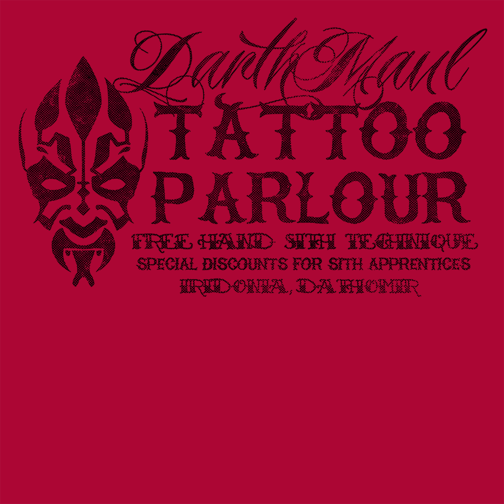 Pop-Up Tee: Darth Maul Tattoo Parlour