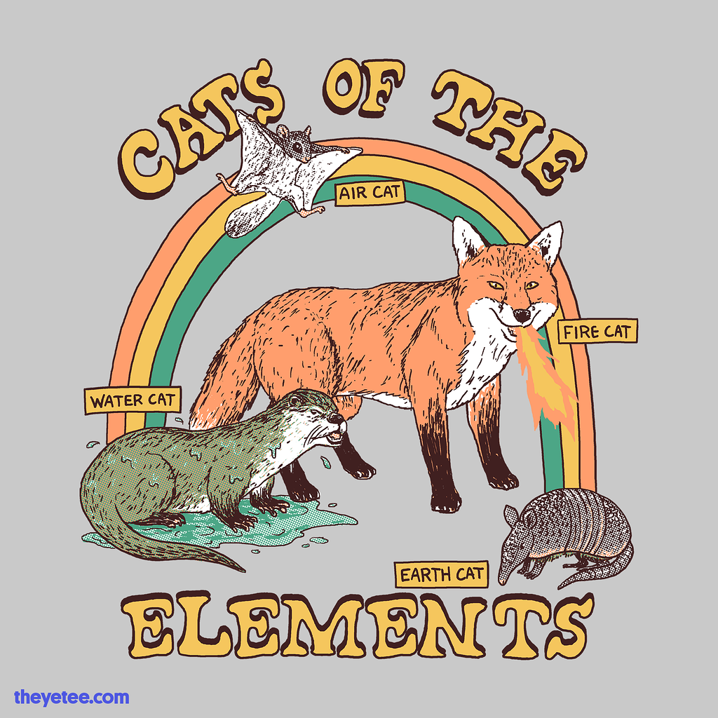 The Yetee: Cats Of The Elements