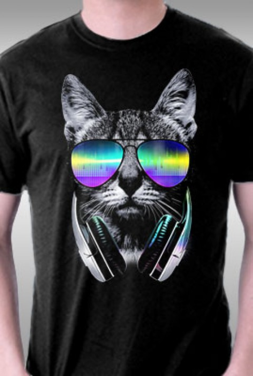 TeeFury: Music Lover Cat