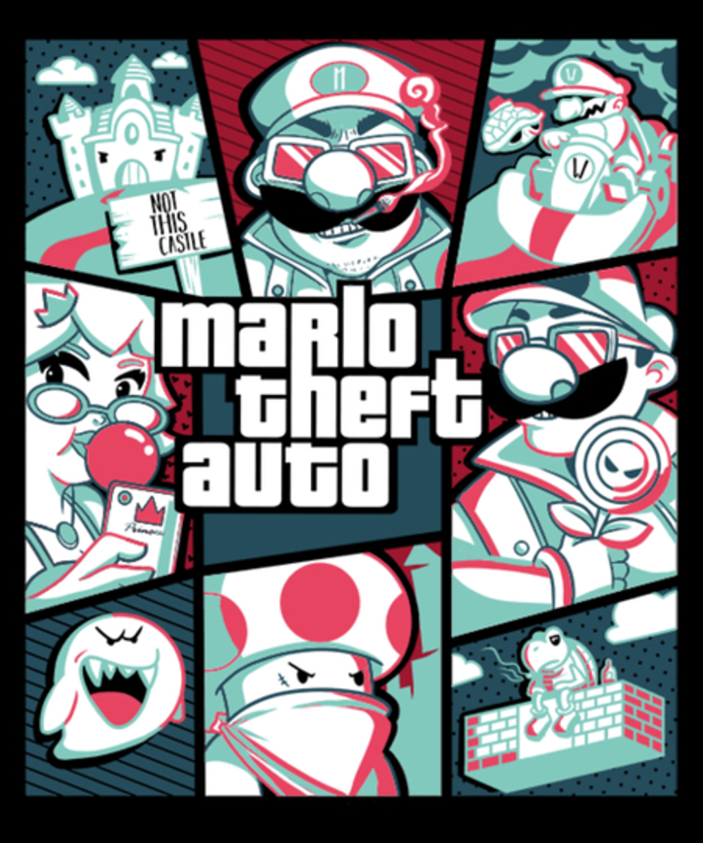 Qwertee: Mario Theft Auto