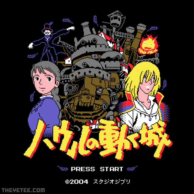 The Yetee: Howl's Moving Pixels