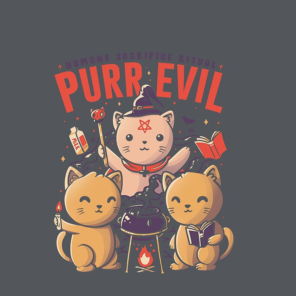 TeeFury: Purr Evil