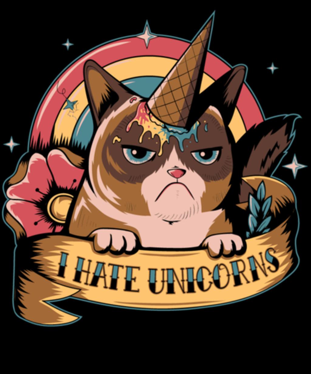 Qwertee: I hate unicorns!